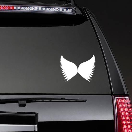 Wings Sticker on a Rear Car Window example