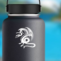 Abnormal Dragon Sticker on a Water Bottle example