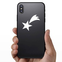 Adorable Shooting Star Sticker on a Phone example
