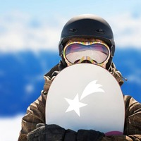 Adorable Shooting Star Sticker on a Snowboard example