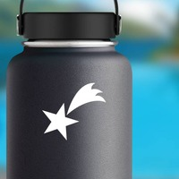 Adorable Shooting Star Sticker on a Water Bottle example