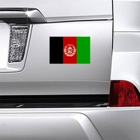 Afghanistan Flag Magnet on a Car Bumper example