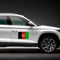Afghanistan Flag Magnet on a Car Side example
