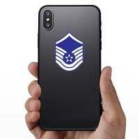 Air Force Rank E-7 Master Sergeant  Sticker on a Phone example