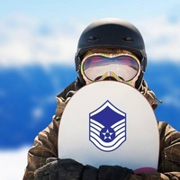 Air Force Rank E-7 Master Sergeant  Sticker on a Snowboard example