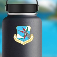 Air Force Strategic Air Command Sticker on a Water Bottle example