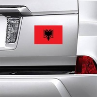 Albania Flag Magnet on a Car Bumper example