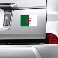 Algeria Country Flag Magnet on a Car Bumper example