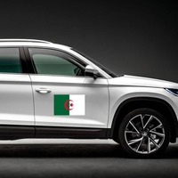 Algeria Country Flag Magnet on a Car Side example