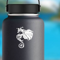 Amazing Detailed Dragon Sticker on a Water Bottle example