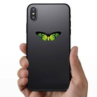 Amazing Green Butterfly Sticker on a Phone example
