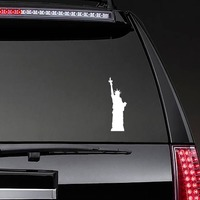 Amazing Statue Of Liberty Sticker on a Rear Car Window example