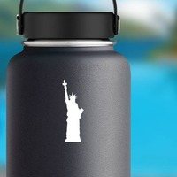 Amazing Statue Of Liberty Sticker on a Water Bottle example