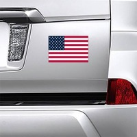 American Flag Magnet on a Car Bumper example