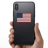 American Flag Sticker on a Phone example