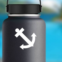 Anchor Sticker on a Water Bottle example