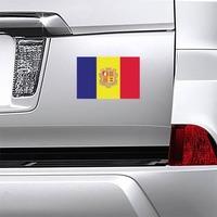 Andorra Flag Magnet on a Car Bumper example