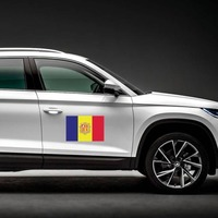 Andorra Flag Magnet on a Car Side example