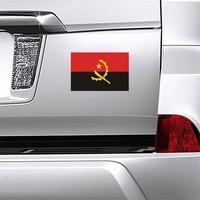 Angola Flag Magnet on a Car Bumper example
