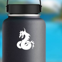 Angry Dragon Snake Sticker on a Water Bottle example