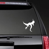 Angry Flying Dragon Sticker on a Rear Car Window example
