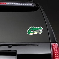 Angry Gator Head Mascot Sticker on a Rear Car Window example