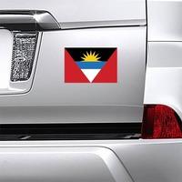 Antiqua Flag Magnet on a Car Bumper example