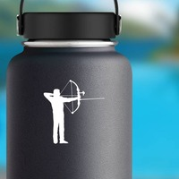 Archer Aiming Sticker on a Water Bottle example