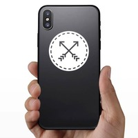 Archery Patch Sticker on a Phone example
