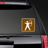 Archery Sticker on a Rear Car Window example