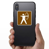 Archery Sticker on a Phone example
