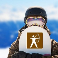 Archery Sticker on a Snowboard example