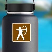 Archery Sticker on a Water Bottle example