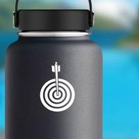 Archery Target Sticker on a Water Bottle example