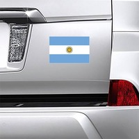 Argentina Country Flag Magnet on a Car Bumper example