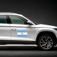 Argentina Country Flag Magnet on a Car Side example