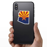 Arizona Flag State Sticker on a Phone example