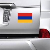 Armenia Flag Magnet on a Car Bumper example
