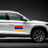 Armenia Flag Magnet on a Car Side example