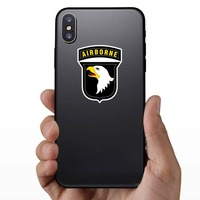Army 101St Airborne Division Sticker on a Phone example