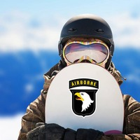 Army 101St Airborne Division Sticker on a Snowboard example