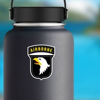 Army 101St Airborne Division Sticker on a Water Bottle example