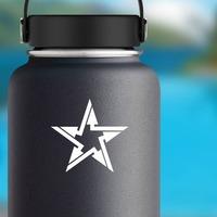 Arrow Star Sticker on a Water Bottle example