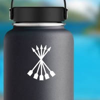 Arrows Sticker on a Water Bottle example