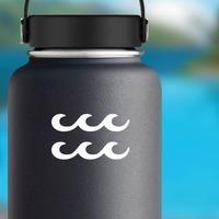 Astrology - Aquarius Zodiac Symbol Sticker on a Water Bottle example