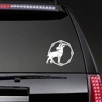 Astrology - Capricorn Zodiac Sticker on a Rear Car Window example