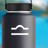 Astrology - Libra Zodiac Symbol Sticker on a Water Bottle example