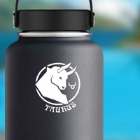 Astrology - Taurus Sticker on a Water Bottle example