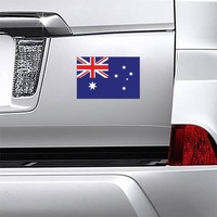 Australia Flag Magnet on a Car Bumper example