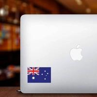 Australia Flag Sticker on a Laptop example